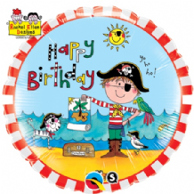 "Ellen - Birthday Pirate Foil Balloon (18"") 1pc"
